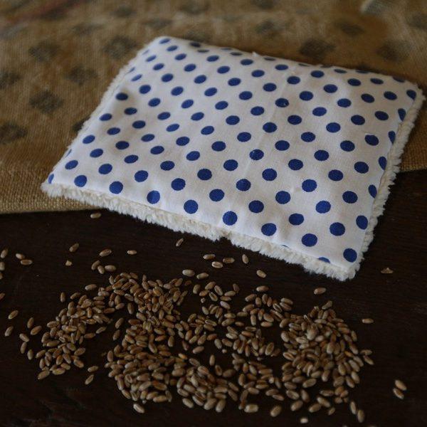 petite bouillotte sèche naturelle aux graines aux retrouvailles création