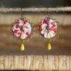 Boucles d'oreilles textiles aux retrouvailles 2