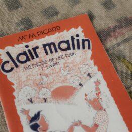 livre vintage clair matin methode de lecture 1962