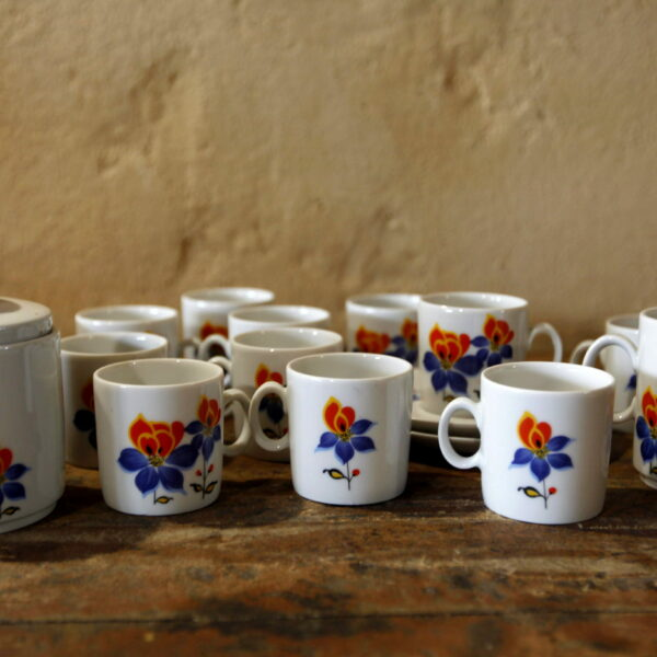 service vintage fleuris porcelaine bavaria aux retrouvailles