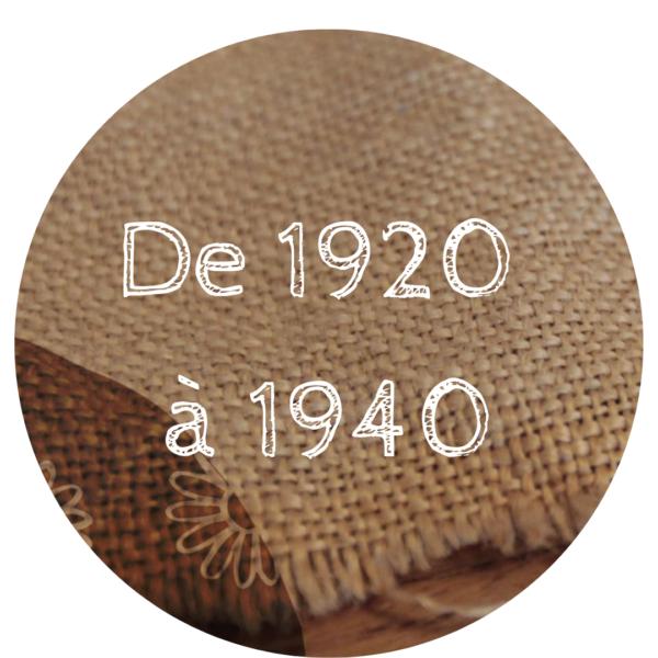 De 1920 à 1940