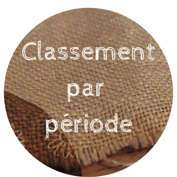 Classement par période