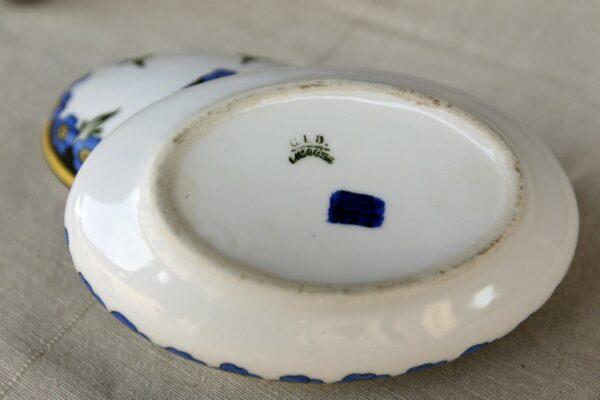 boite à bijoux limoges fleurs bleues aux retrouvailles vintage 3