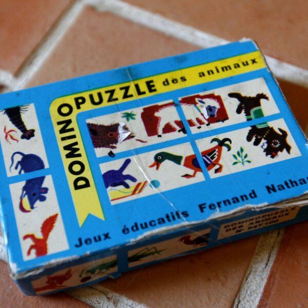 jeu domino puzzle vintage aux retrouvailles